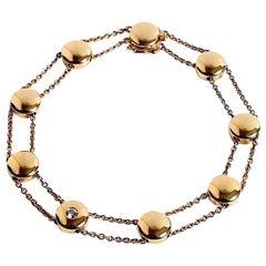 Georg Jensen 18 Karat Gold & Diamond Bracelet