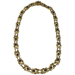 Georg Jensen 18 Karat Gold Necklace with Saphires No 249