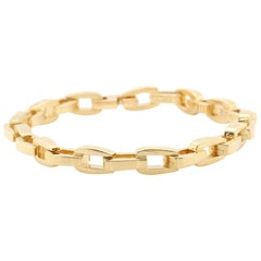 Georg Jensen 18 Karat Yellow Gold Oval Link Bracelet