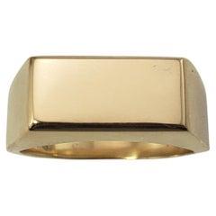 Georg Jensen 18 Karat Yellow Gold Signet Ring