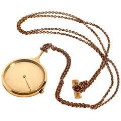 Georg Jensen 18karat Gold Pendant Watch designed by Vivianna Torun Bulow-Hube