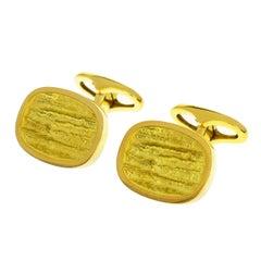 Georg Jensen 18 Karat Yellow Gold Cufflinks