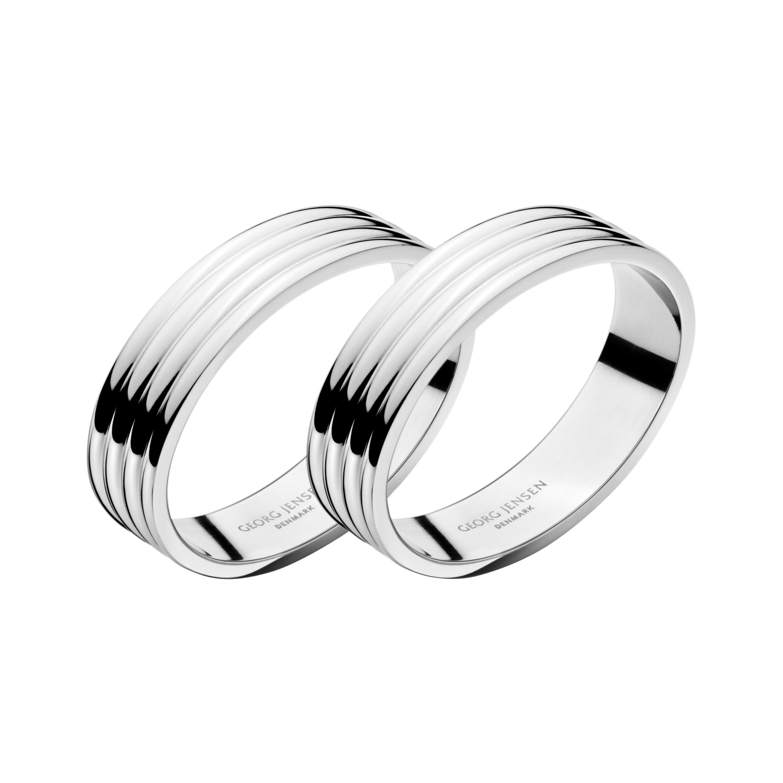 Georg Jensen 2-Piece Napkin Rings Set in Stainless Steel by Sigvard Bernadotte