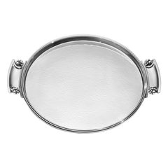 Georg Jensen 296 Handcrafted Sterling Silver Tray