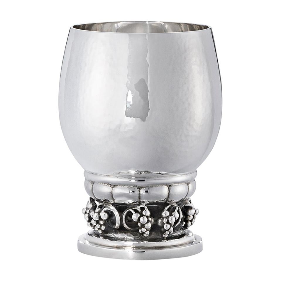 Georg Jensen 296A Handcrafted Sterling Silver Cup with Grape Details