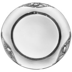 Georg Jensen 2Ac Handcrafted Sterling Silver Place Plate