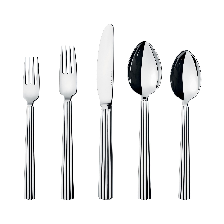 Georg Jensen 5-Piece Cutlery Set in Stainless Steel by Sigvard Bernadotte