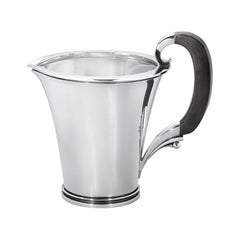 Georg Jensen 600A Sterling Silver Pitcher with Ebony Handle by Harald Nielsen
