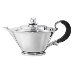 Georg Jensen 600B Sterling Silver and Ebony Teapot by Harald Nielsen