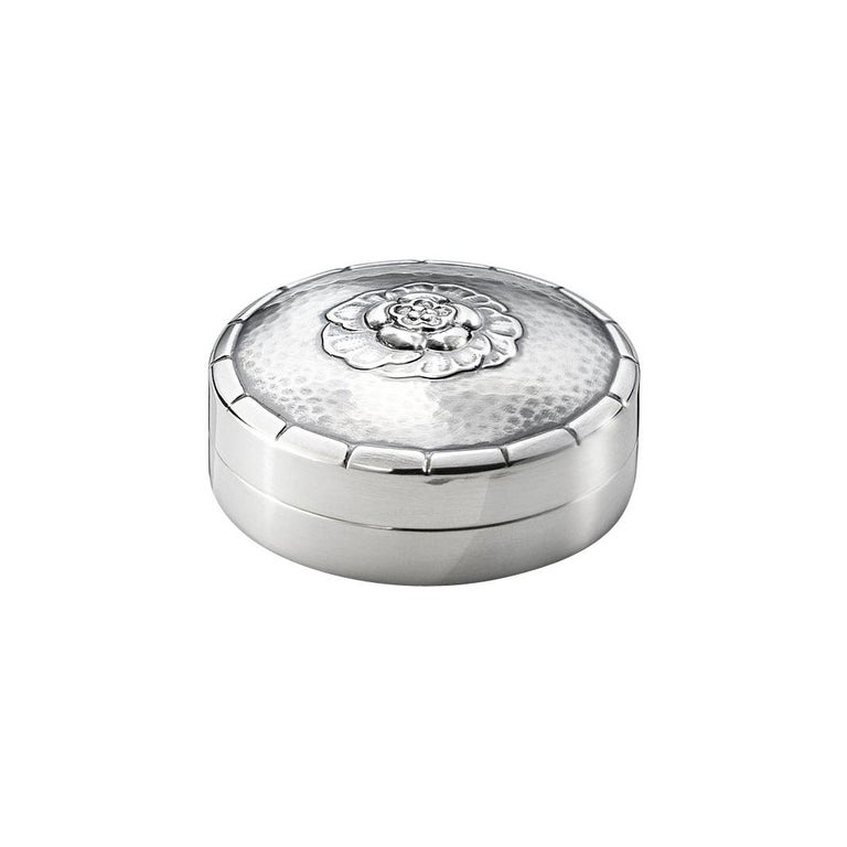 Georg Jensen 79D Handcrafted Sterling Silver Pill Box For Sale