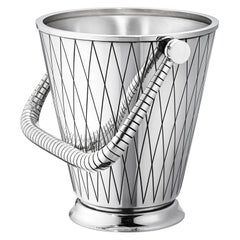 Georg Jensen 819D Handcrafted Sterling Silver Ice Bucket by Sigvard Bernadotte