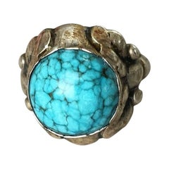 Georg Jensen 830 Silver and Turquoise Ring, No. 11