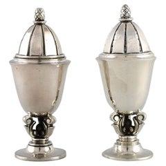 Georg Jensen Acorn Salt and Pepper Shaker in Sterling Silver