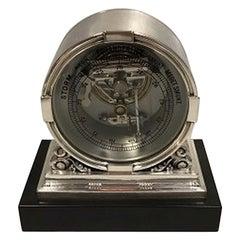 "Georg Jensen ""Acorn"" Sterling Silver Barometer No. 596. Designed by Johan Rohde"