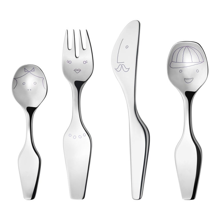 Georg Jensen Alfredo Cutlery Set in Stainless Steel Mirror by Alfredo Haberli For Sale