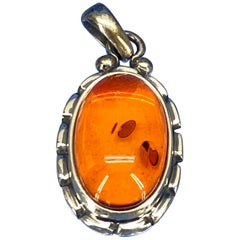 Georg Jensen Annual Amber Pendent in Sterling Silver, 2001