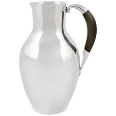 Georg Jensen Art Deco Pitcher #743 by Johan Rohde