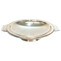 Georg Jensen Art Deco Sterling Silver Twin Handled Dish in Pyramid