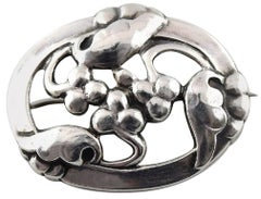 Georg Jensen Art Nouveau Brooch in Silver 1920s-1930s