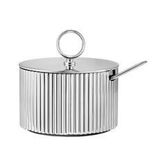 Georg Jensen Bernadotte Sugar Bowl & Spoon by Prince Sigvard Bernadotte