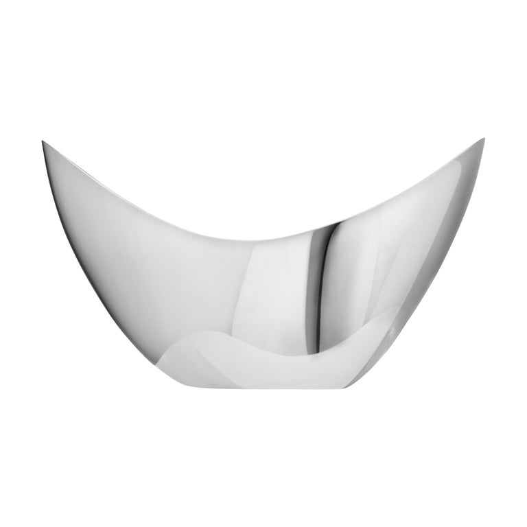 Georg Jensen Bloom Tall Bowl in Stainless Steel Mirror by Helle Damkjær For Sale
