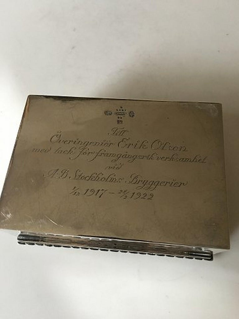 Art Nouveau Georg Jensen Box in 830 Silver from 1919 No 89 For Sale