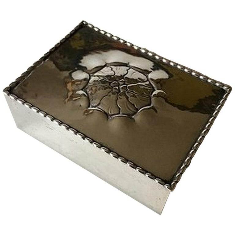 Georg Jensen Box in 830 Silver from 1919 No 89 For Sale