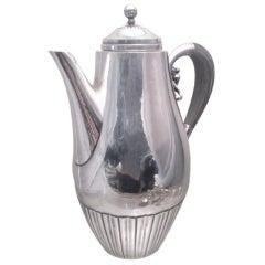 Georg Jensen by Rohde Sterling Silver Coffee/ Tea Pot in Cosmos Pattern 45A