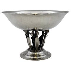 Georg Jensen by Rohde Sterling Silver Footed Centerpiece Bowl in Pattern 171