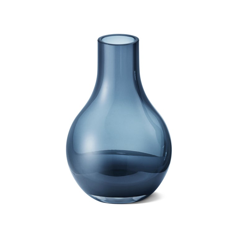 Modern Georg Jensen Cafu Extra Small Vase in Glass by Holmbäck Nordentoft For Sale