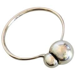 Georg Jensen Cave Bangle Bracelet No 509 Designed by Jacqueline Rabun