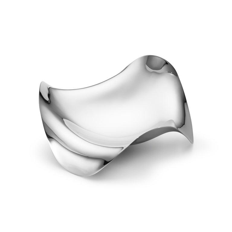 Modern Georg Jensen Cobra Bowl in Stainless Steel Mirror by Constantin Wortmann For Sale