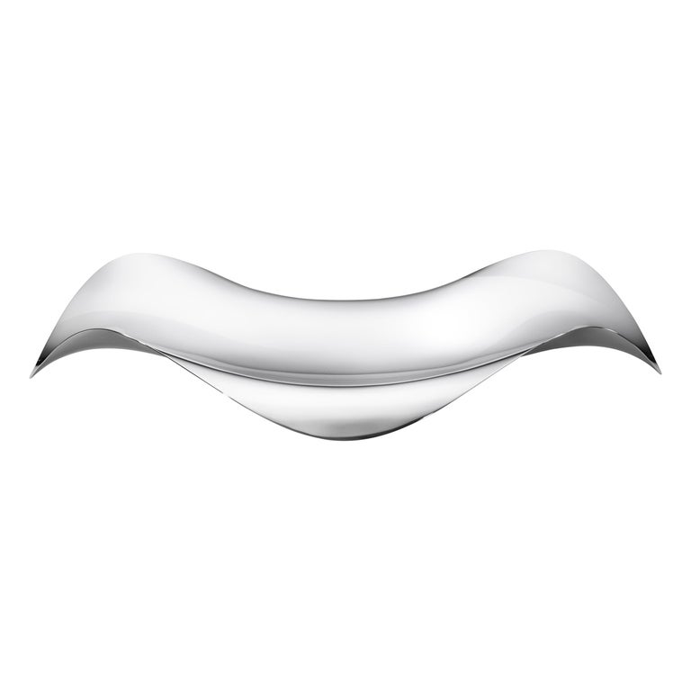 Georg Jensen Cobra Oval Tray in Stainless Steel by Constantin Wortmann For Sale