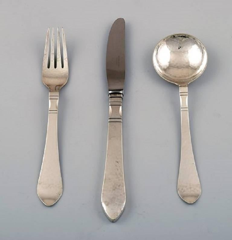 Georg Jensen Continental // Antik Silver Luncheon Fork VINTAGE