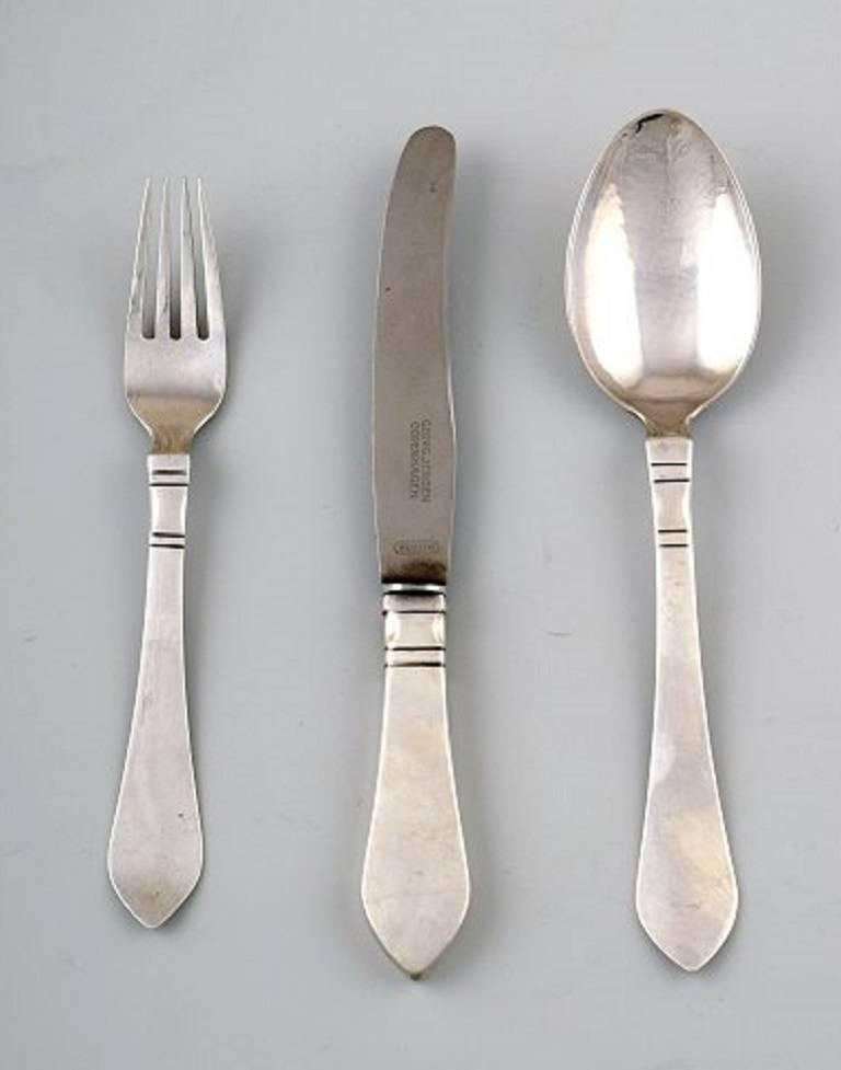 VINTAGE Silver Luncheon Fork Continental // Antik Georg Jensen