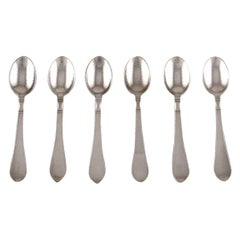 "Georg Jensen ""Continental"" Cutlery, Six Coffee Spoons in Sterling Silver"