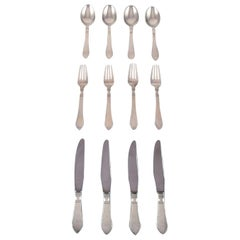 """Georg Jensen """"Continental"""" Silver Cutlery, Dinner Service for Four People"""