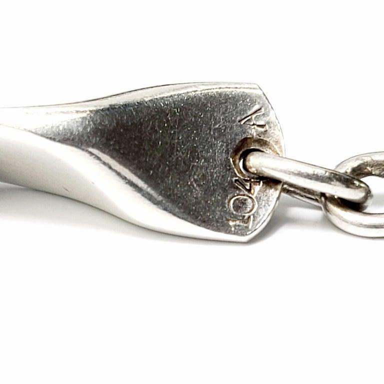 Georg Jensen Denmark Sterling Silver 104A Butterfly Link Bracelet 2