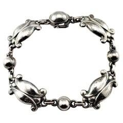 Georg Jensen Denmark Sterling Silver #11 Moonlight Blossom Bracelet