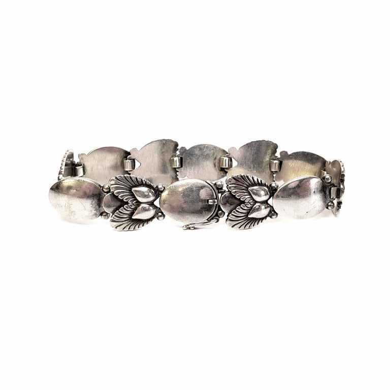 Georg Jensen Denmark Sterling Silver Bittersweet Bracelet 94B For Sale 2