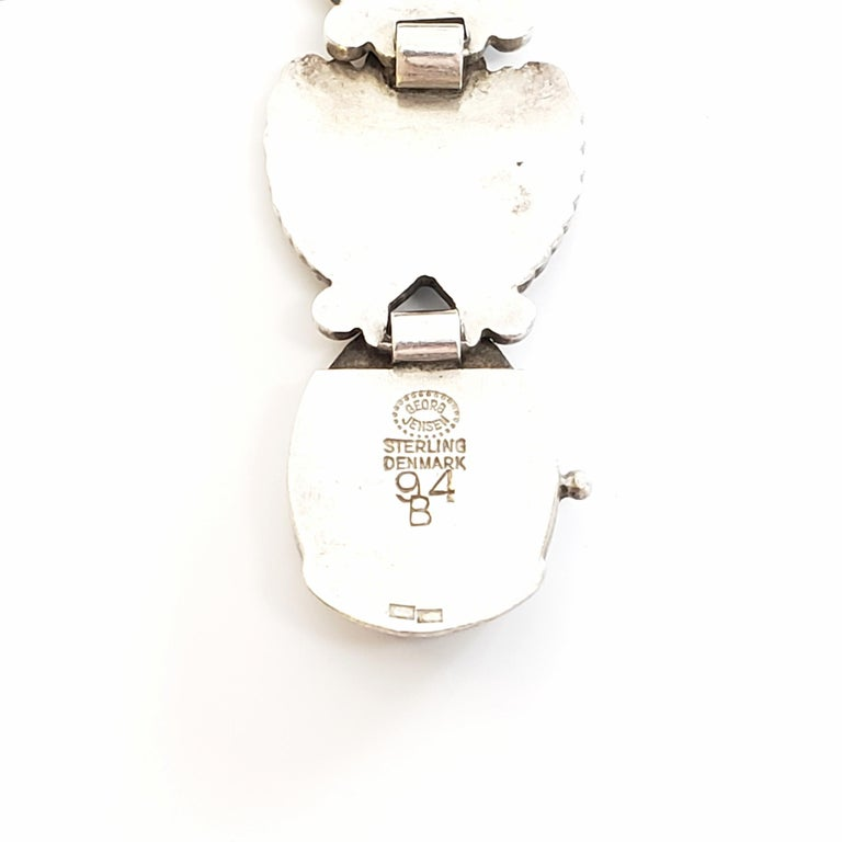 Georg Jensen Denmark Sterling Silver Bittersweet Bracelet 94B For Sale 3