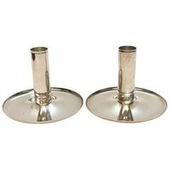 Georg Jensen Denmark Sterling Silver Modernist Candleholders