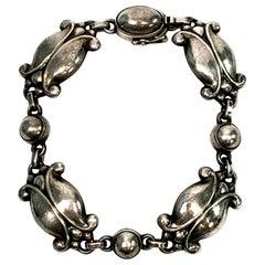 Georg Jensen Denmark Sterling Silver Moonlight Blossom Bracelet