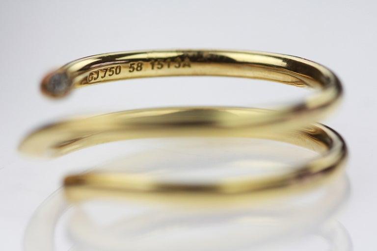 Glimrende Georg Jensen Diamond Set Magic Ring in 18 Carat Yellow Gold For PT-69
