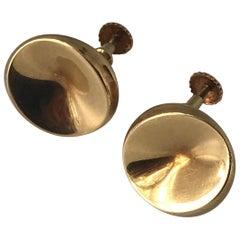 e6caa15c4ce61 Georg Jensen 18 Karat Gold Earrings 'Screws' Ornamented with a Pearl ...