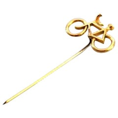 Georg Jensen Gilded Brass Bicycle Pin Needle