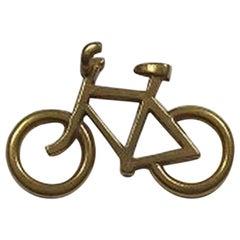 Georg Jensen Gilt Brass Men's Bicycle Pendant No 5215