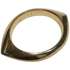 Georg Jensen Gold 18 Karat Bangle No 1111 Nanna Ditzel