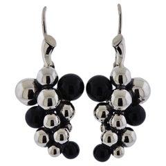 Georg Jensen Grape Onyx Sterling Silver Earrings