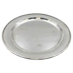 Georg Jensen Hammered Sterling Silver Modern Platter Tray Plate in Pattern 210C